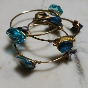 Jewelry - Set of 3 Druzzy Bracelets